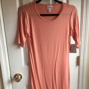 NWT XS LuLaRoe Julia dress solid peach
